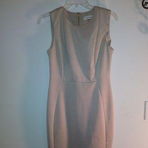 New Classic Calvin Klein Dress scuba sheath 6